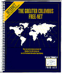 Cover shot of the Guide for Greater Columbus Free-Net.