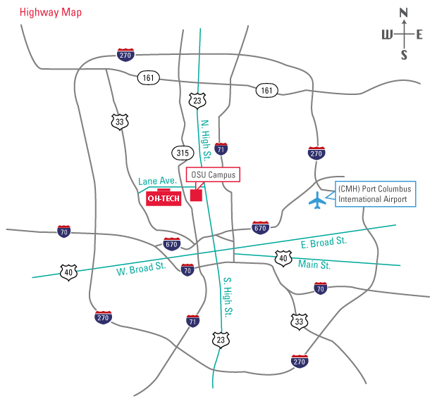 Visit OHTECH OHTECHorg - Map of us 70 exit 33 in ohio